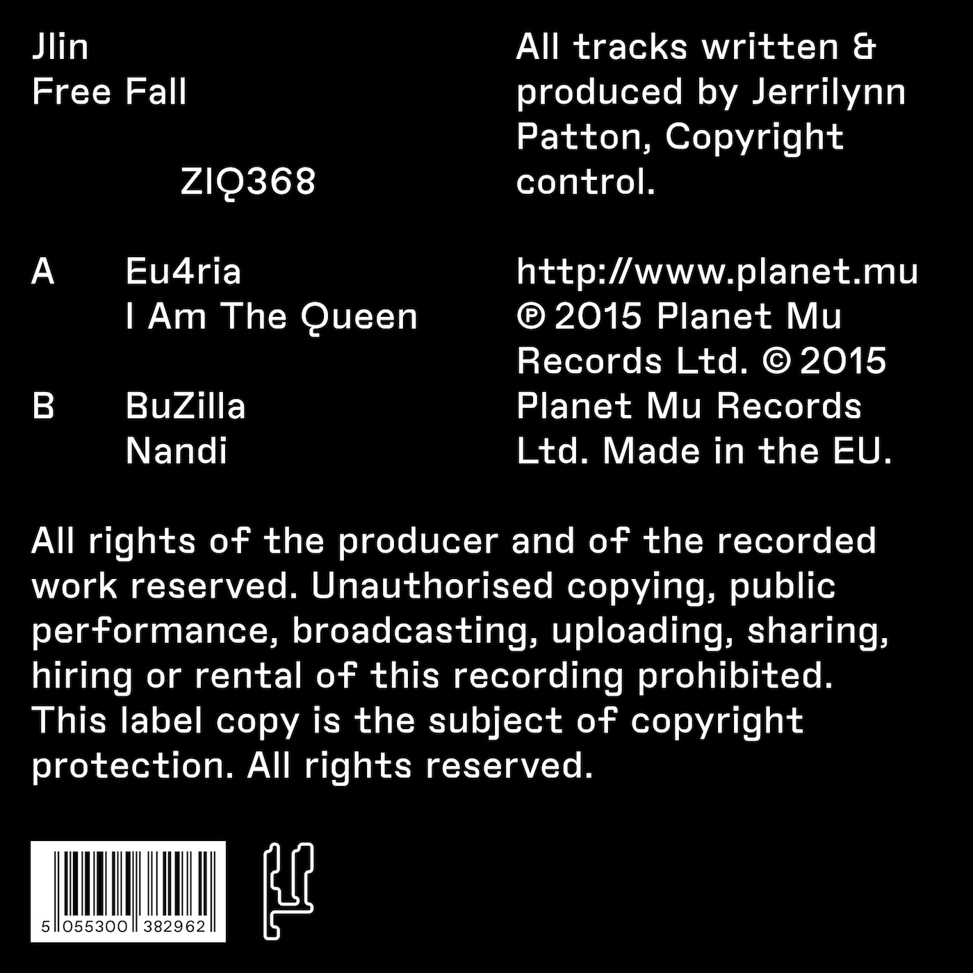 Jlin - Free Fall [EP] | Music Review | Tiny Mix Tapes