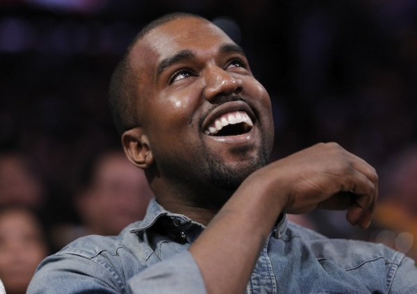 Image result for kanye west laughing