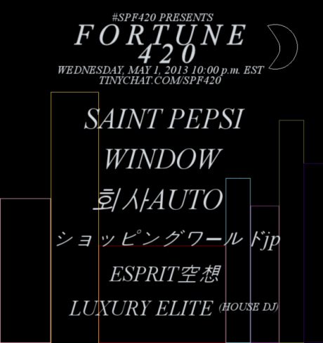 By the powers of SPF420 and Fortune500 combined, there is the Fortune 420 vaporwave concert, just a button-click away