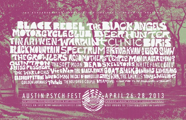Austin Psych Fest shares 2013 lineup: Deerhunter, Boris, Quintron, and others who are not Hugh Laurie