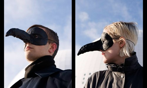 The Knife try to announce live shows, but no one can tell quite what they're saying behind those damn bird masks