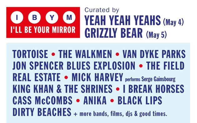 "Grizzly Bear and Yeah Yeah Yeahs curate ATP's latest ""I'll Be Your Mirror"" festival"