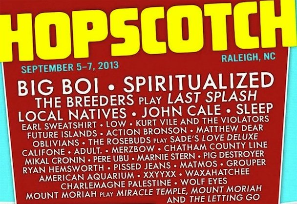 Hopscotch Festival announces impressive 2013 lineup; Merzbow to roam freely in the North Carolina countryside