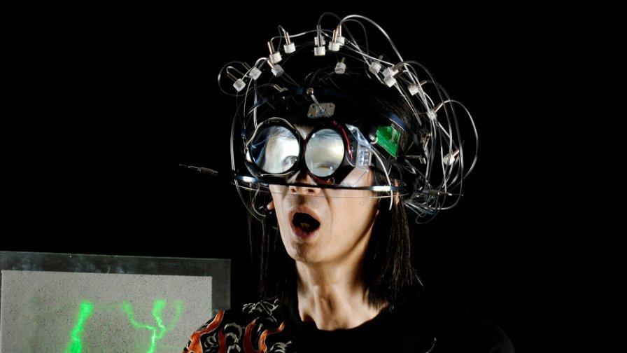 Masaki Batoh lugs his Brain Pulse Music machine around on US tour