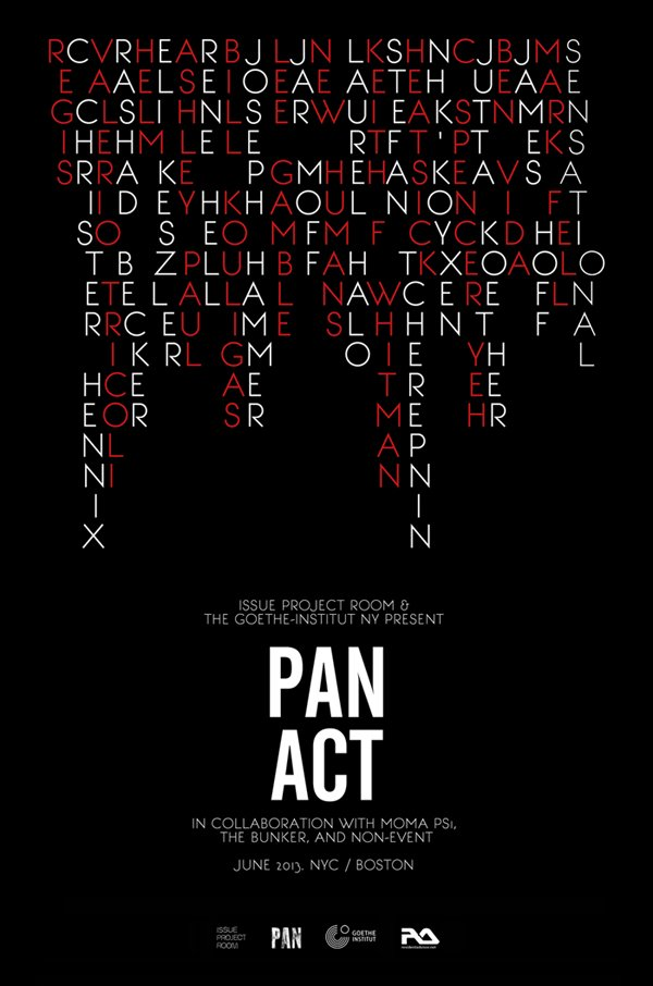 PAN label throws PAN_ACT festival in NY and Boston with Laurel Halo, Keith Fullerton Whitman, Eli Keszler, and more (apparently everyone is hanging out without me)