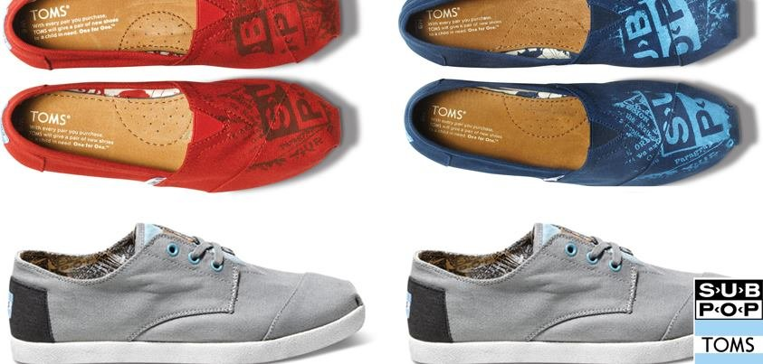 A match made in either heaven or hell: Sub Pop and TOMS release special Sub Pop Silver Jubilee shoes