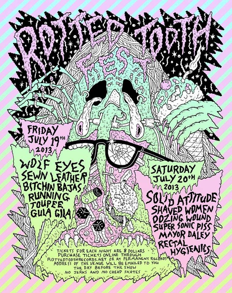Chicago's Rotted Tooth Fest, the de facto replacement of Bitchpork, features Wolf Eyes, Bitchin' Bajas, Sewn Leather, and more; fest starts tonight!