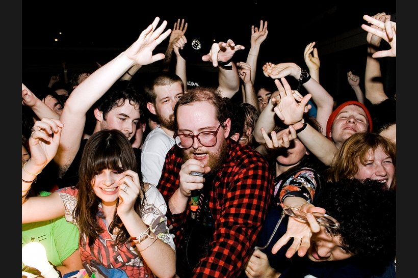 Arcade Fire (not so adorable) are touring with Dan Deacon and Kid Koala (extremely adorable!)