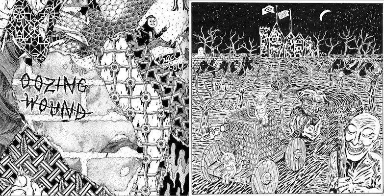 Black Pus and Oozing Wound to release a split LP in June, not as foul as their names make it sound
