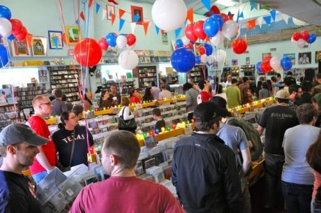 Record Store Day boosts vinyl sales 2,000%; record store clerks ask if they can go get coffee now