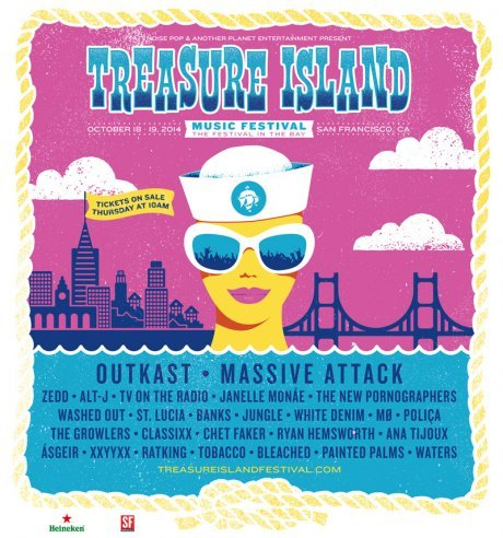 Outkast, Massive Attack, New Pornographers, Janelle Monae, TV on the Radio, more to play at Treasure Island Music Festival