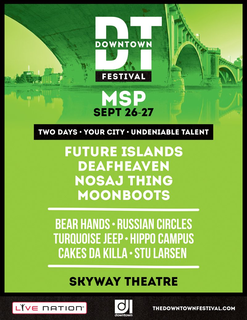 Future Islands, Deafheaven, more to headline Downtown Festival in Minneapolis this September