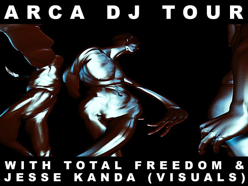 Arca announces joint US tour with Total Freedom, promises to bring Jesse Kanda along for rad visuals