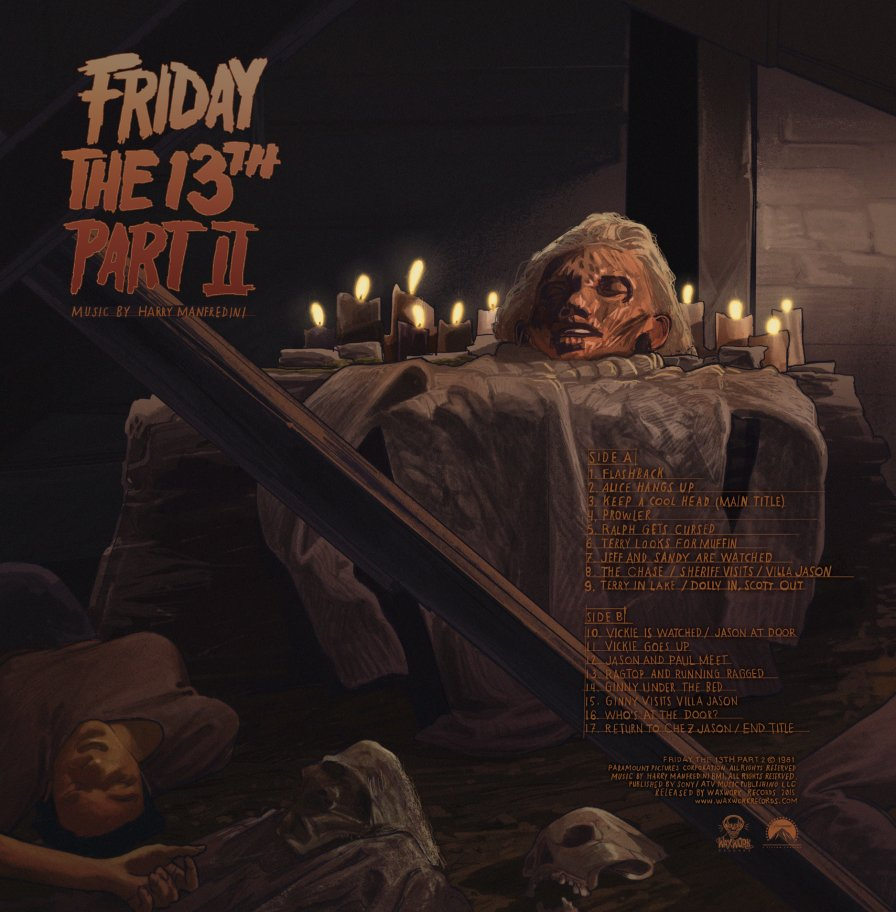 Ki, ki, ki...ma, ma, ma….scrrratch! Waxwork Records releases Friday the 13th: Part II soundtrack LP