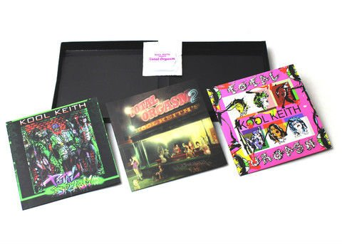 Kool Keith's Total Orgasm box set comes with three CDs and a condom (unused)