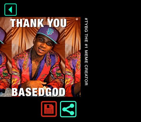 Lil B launches Thank You Based God Meme Creator app, technology reaches apex
