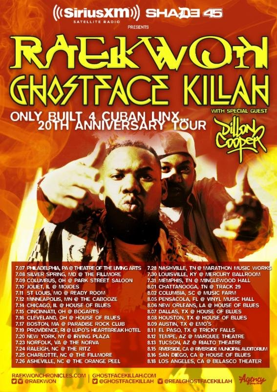 Raekwon and Ghostface Killah plan joint tour in honor of Only Built 4 Cuban Linx's 20th anniversary