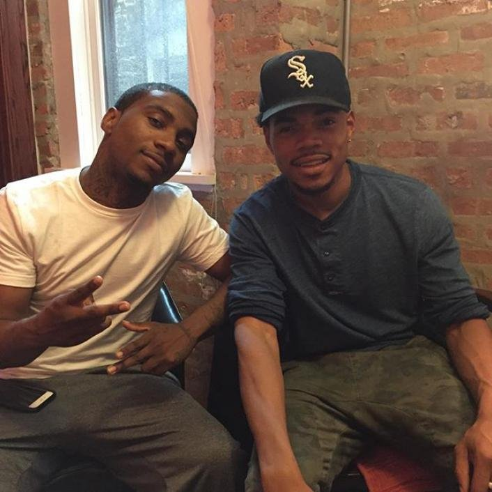 Lil B  and Chance The Rapper announce collaboration through Instagram, sandwiched between shots of dogs and dinners