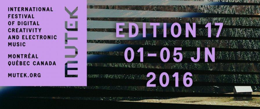 MUTEK 2016 announces initial lineup, ft. Tim Hecker, Jlin, Powell, and a badass million more