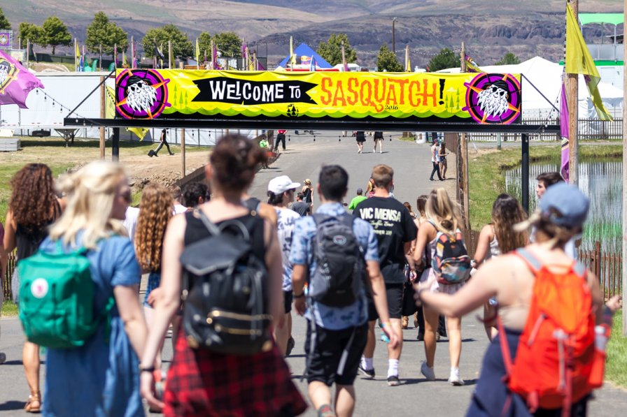 Entrance to Sasquatch!