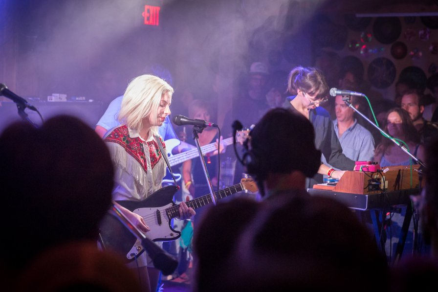 Alvvays performing in the Galaxy Barn