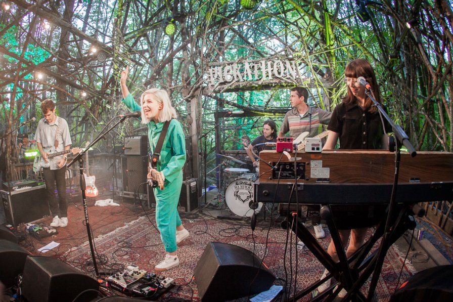 Alvvays performing at the Woods Stage