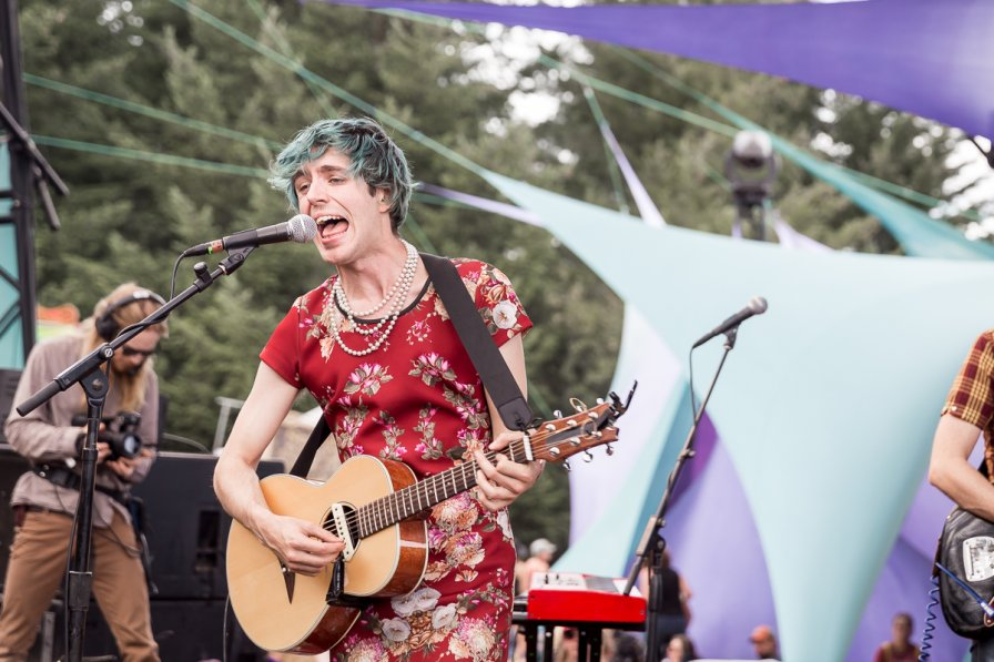 Ezra Furman performing on the main stage