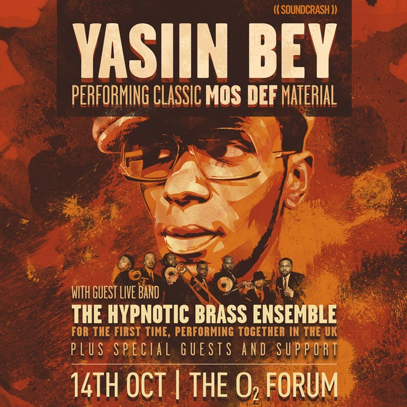 Yasiin Bey (f.k.a. Mos Def) to join The Hypnotic Brass Ensemble for London show