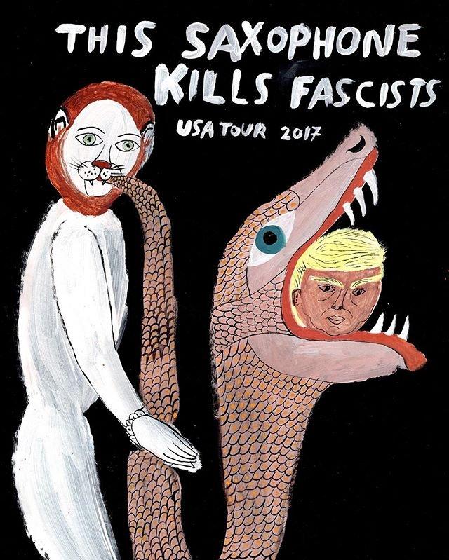 Pizzagate victim Arrington de Dionyso to tour the US this spring as This Saxophone Kills Fascists