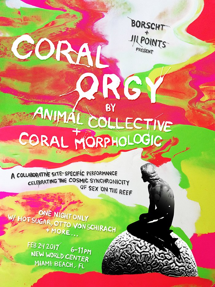 "Animal Collective to present a set of new, coral-reef-sex-inspired music at upcoming ""Coral Orgy"" Event"