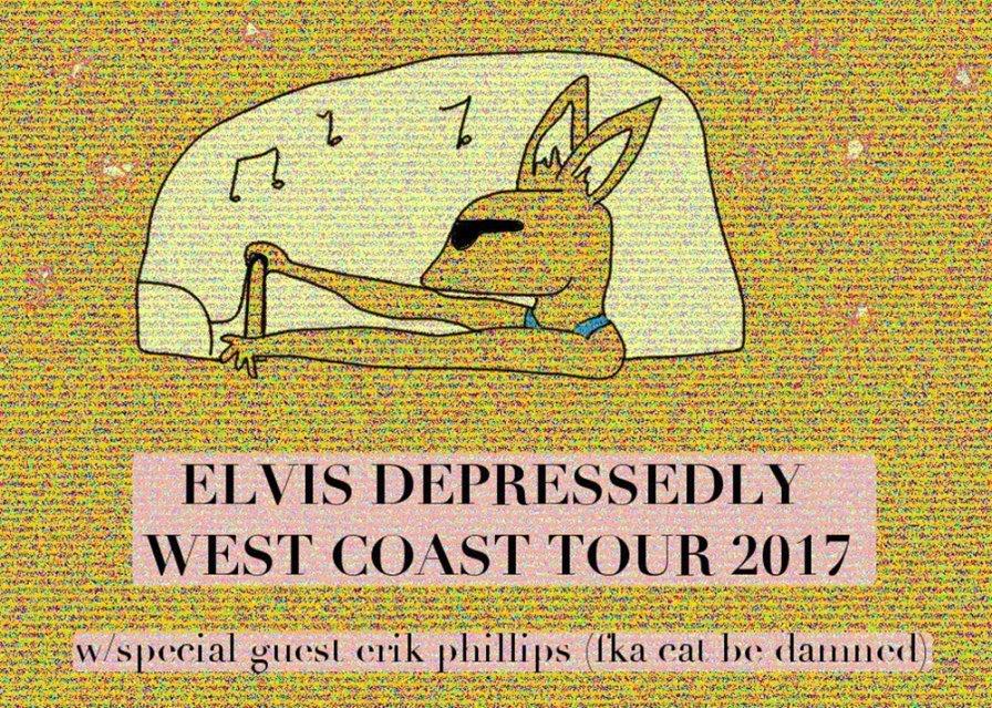 Elvis Depressedly announces West Coast tour