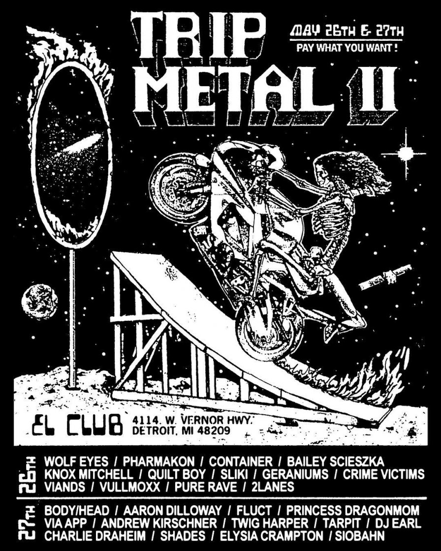 Detroit's Trip Metal Fest II to take place this month, featuring Elysia Crampton, Wolf Eyes, DJ Earl, and more