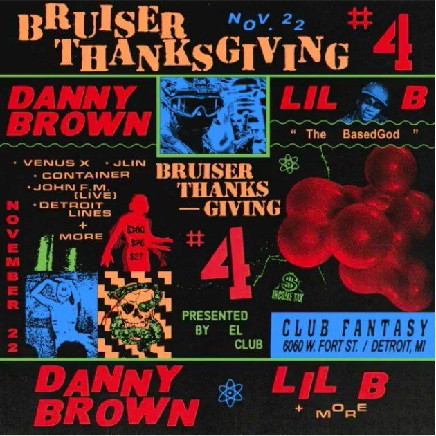 Danny Brown announces Bruiser Thanksgiving 4 concert with Lil B, Detroit immediately reaches full economic and cultural recovery