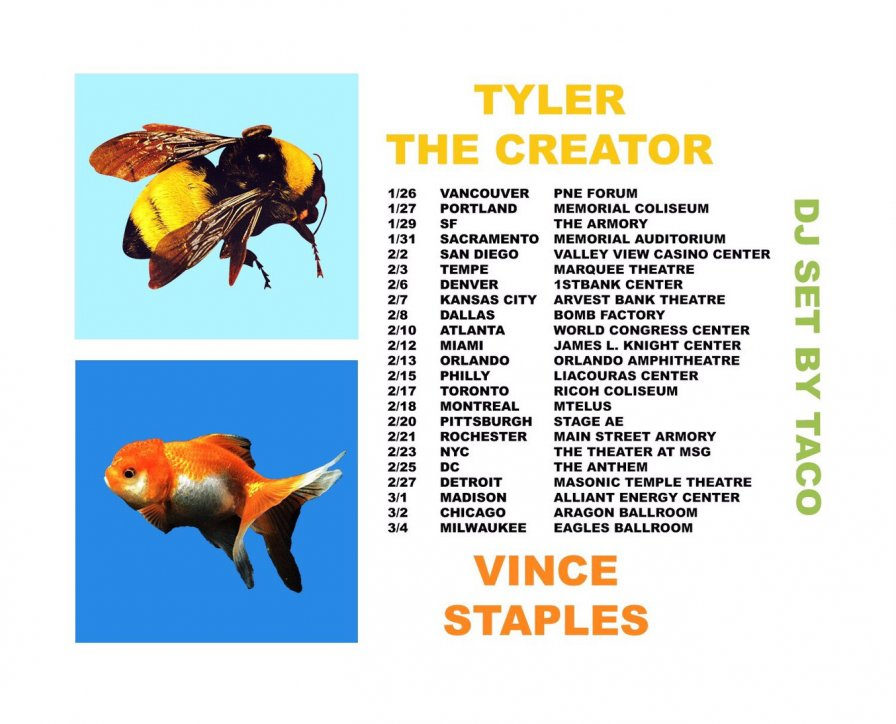 Tyler, The Creator takes his recent emotional outpourings on the road, creates North American tour with Vince Staples