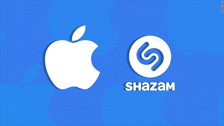 This is a news story about Apple acquiring Shazam.