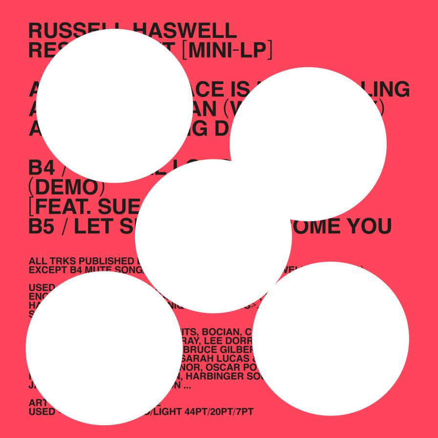 Russell Haswell announces new mini-album Respondent on Diagonal Records, perfects bottle-dodging skills