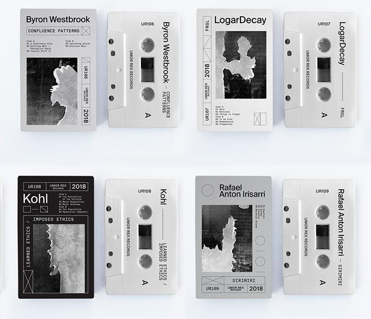 Umor Rex announces new cassette batch, featuring Byron Westbrook, Kohl, LogarDecay, Kohl, and Rafael Anton Irisarri
