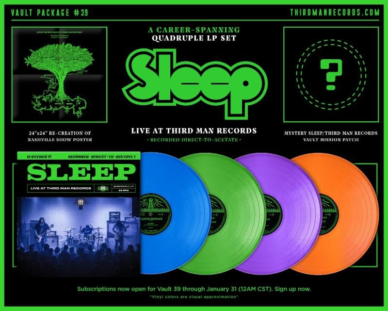 Sleep announce 4xLP live album via Third Man Records (with some Jack White-ish subscriptive caveats)