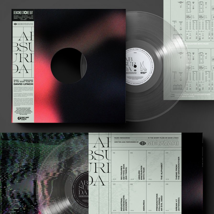 Metavari announces ABSURDA: Music Reimagined in the Short Films of David Lynch for Record Store Day; I begin to practice my RSD carols while rummaging in the garage for RSD decorations