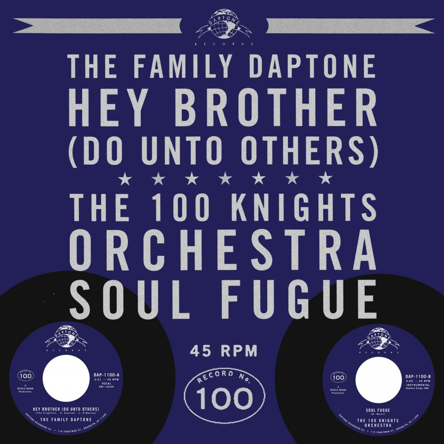 "Daptone celebrates the release of its 100th 45 rpm single, shares The 100 Knights Orchestra's ""Soul Fugue"""