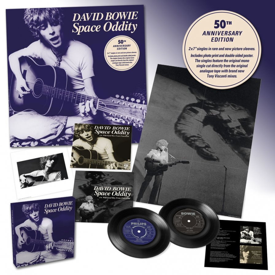 "David Bowie ""Space Oddity"" 50th anniversary remastered 7-inch box set coming this July"