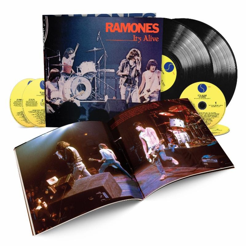 Gabba Gabba Heh? The Ramones It's Alive: 40th Anniversary Deluxe Edition features four live recordings recorded four days apart December 1977