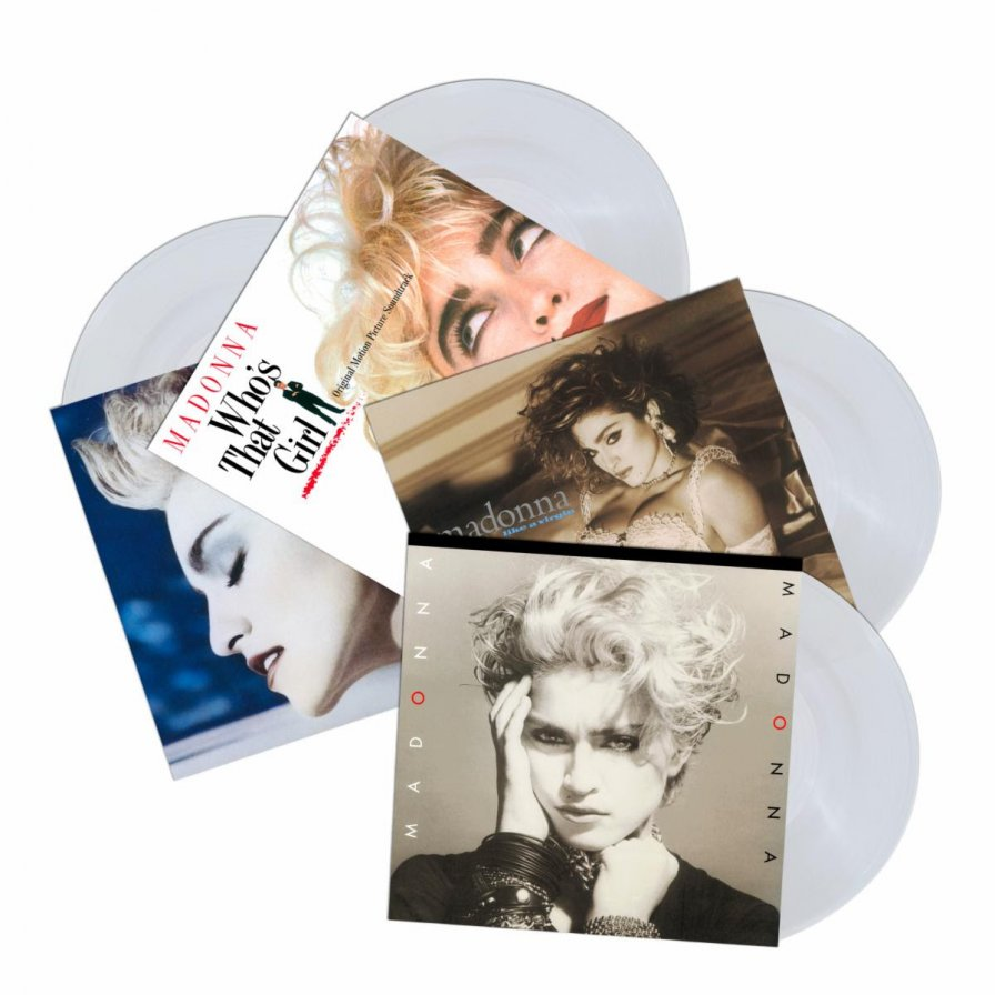 Madonna's first four albums to be released on crystal clear vinyl in November
