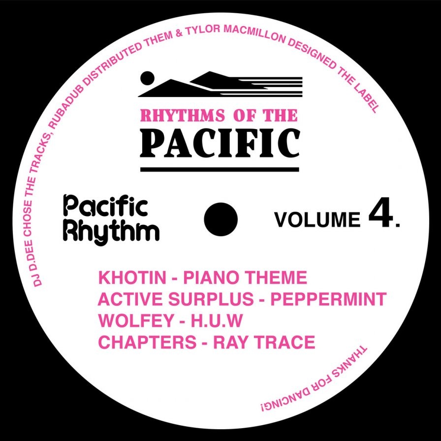 "Canadian label Pacific Rhythm unveils Rhythms Of The Pacific Volume 4, featuring Khotin, Active Surplus, Wolfey, and Chapters; shares Khotin's ""Piano Theme"""