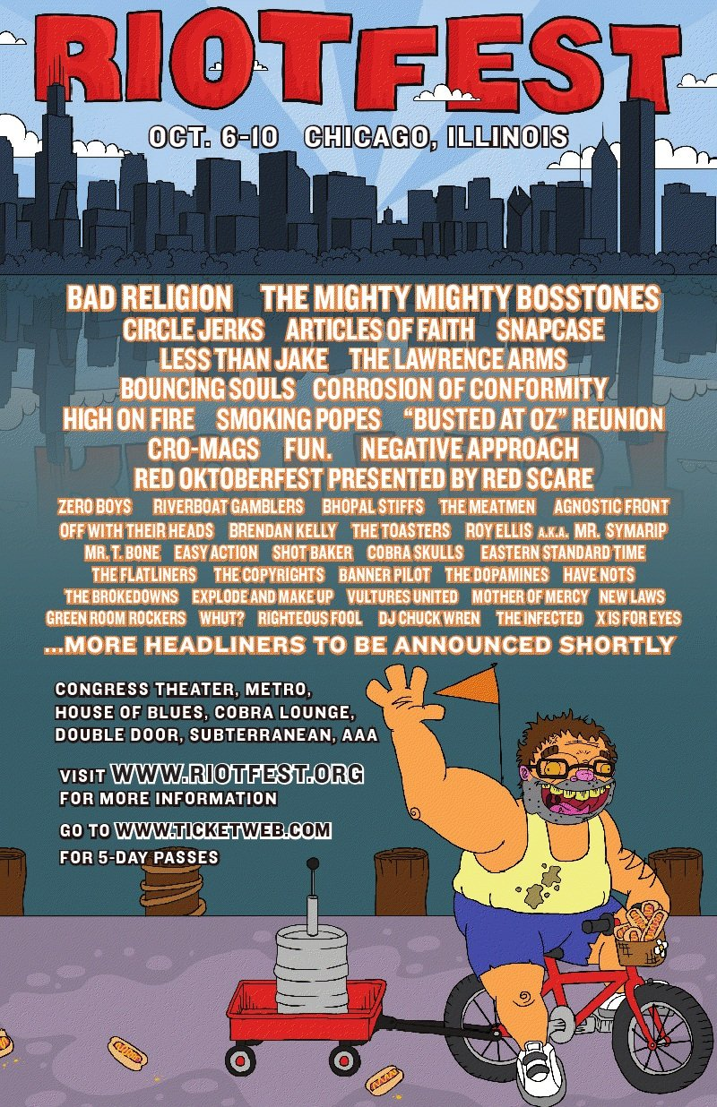 Riot Fest announces more bands, makes you feel really old
