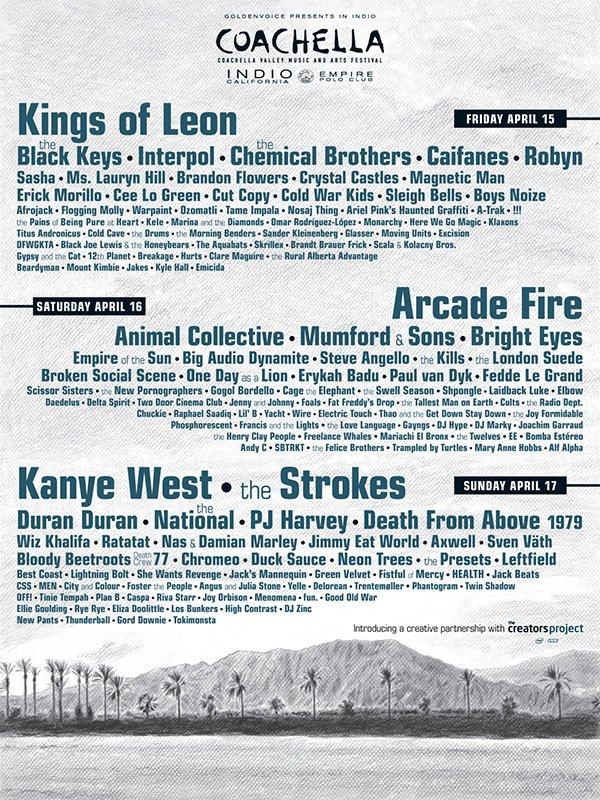 Coachella announces 2011 lineup, mysteriously snubs Sundafyllir Mostrarskegg La Resistance