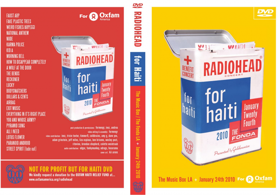 Radiohead Haiti benefit show released as a multi-cam 2-disc DVD