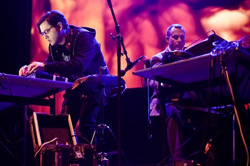 Matmos tour Europe with J. Lesser clad in suits of 14 karat gold; John Wiese opens