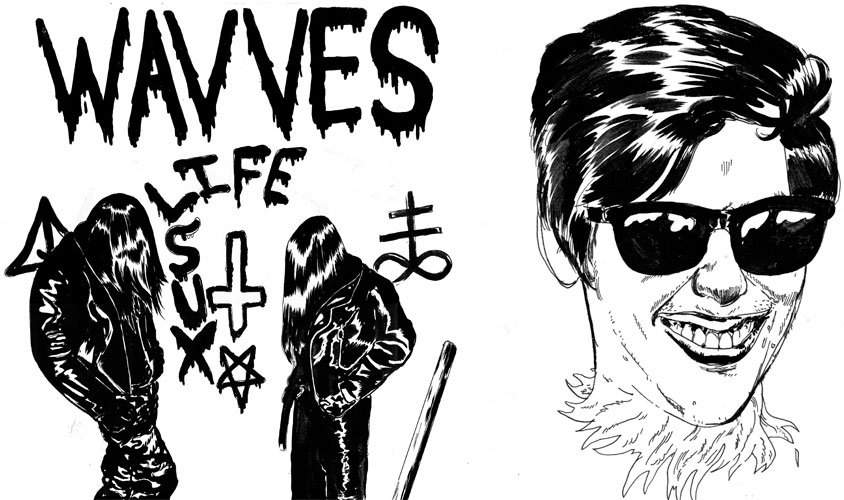 Wavves announce Life Sux EP, accidentally order an XL pizza made of skateboards