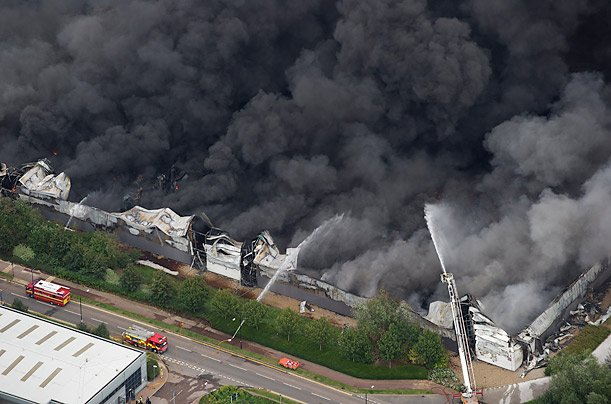 Sony warehouse fire being investigated as possible organized robbery